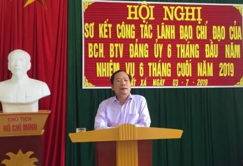 Đồng chí Nguyễn Đặng Ân, Phó Bí thư Huyện ủy, Chủ tịch UBND huyện phát biểu tại hội nghị sơ kết..jpg